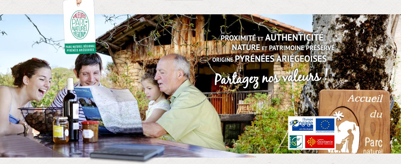 Bannière Valeurs Parc PNR Ariège